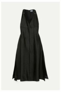 Mugler - Satin Midi Dress - Black