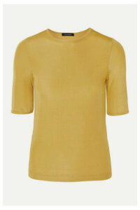 GOLDSIGN - The Bound Ribbed Stretch-jersey T-shirt - Yellow