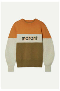 Isabel Marant Étoile - Kedy Color-block Intarsia Knitted Sweater - Army green