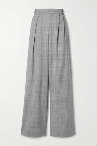 Stella McCartney - Oversized Double-breasted Herringbone Wool-blend Coat - Black