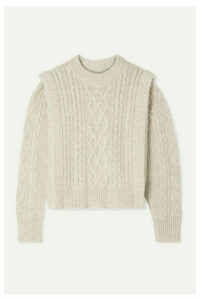 Isabel Marant Étoile - Tayle Cable-knit Wool Sweater - Ecru