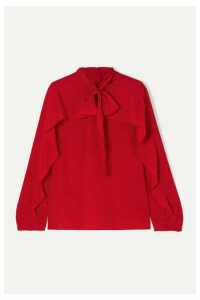REDValentino - Pussy-bow Silk Crepe De Chine Blouse - IT42