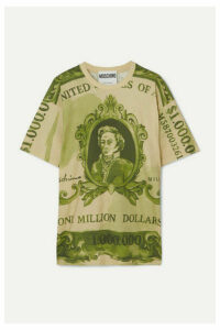 Moschino - Oversized Printed Cotton-jersey T-shirt - Green