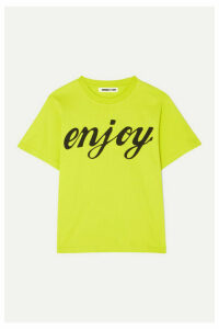 McQ Alexander McQueen - Printed Cotton-jersey T-shirt - Bright yellow