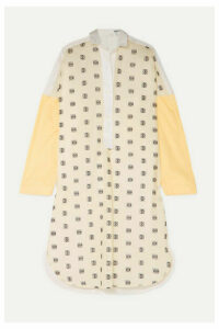 Loewe - Paneled Embroidered Cotton-poplin Shirt - Yellow