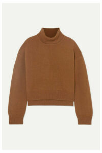 REJINA PYO - Lyn Asymmetric Cashmere Turtleneck Sweater - Brown