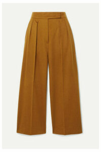 Max Mara - Cropped Pleated Camel Hair Wide-leg Pants - UK16