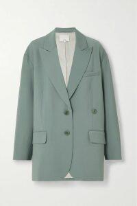 Miu Miu - Camouflage-intarsia Wool Cardigan - Army green