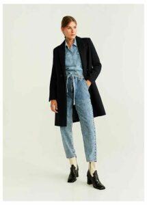 Lapels wool coat