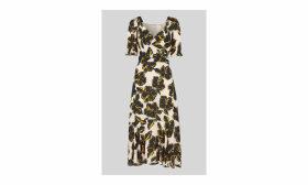 Tropical Flower Silk Dress