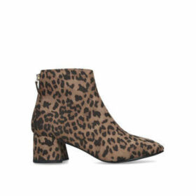 Miss KG Jen - Animal Print Block Heel Ankle Boots