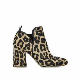 Michael Michael Kors Dixon Bootie - Leopard Print Block Heel Ankle Boots