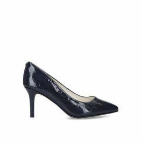 Anne Klein Bertrude - Navy Snake Effect Court Shoes