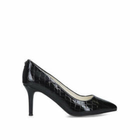 Anne Klein Bertrude - Black Snake Effect Court Shoes