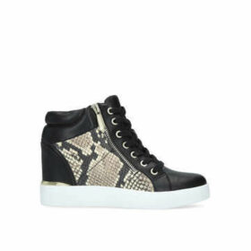 Aldo Ailanna - Black And Snake Print High Top Wedge Trainers