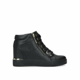 Aldo Ailanna - Black High Top Wedge Trainers