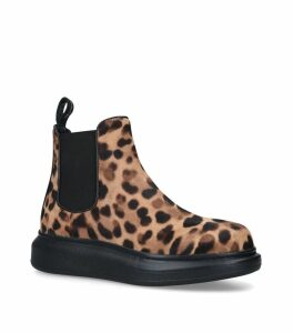 Leopard Print Hybrid Chelsea Boots