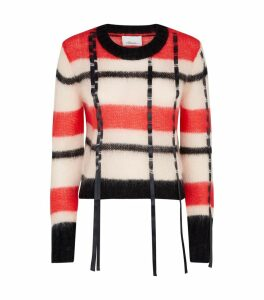 Check Mohair Sweater