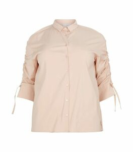 Ruched Sleeve Shirt