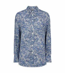 Silk Coral Mosaic Shirt