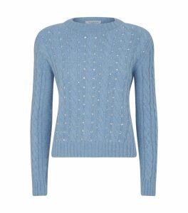 Diamanté Cable Knit Sweater