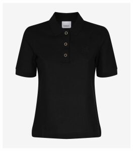 TB Monogram Cotton Piqué Polo Shirt