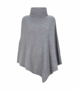 Ribbed Rollneck Poncho