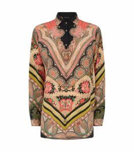 Silk Floral Arnica Paisley Shirt