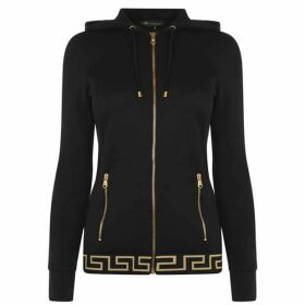Versace Icon Greek Key Zip Hoodie
