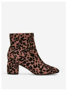 Womens Pink 'Addie' Heeled Boots- Pink, Pink