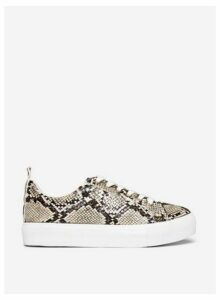 Womens Brown 'Indi' Snake Print Trainers, Brown