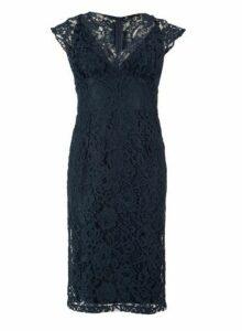 Womens *Tfnc Navy Lace Midi Bodycon Dress- Blue, Blue