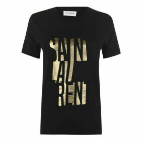 Saint Laurent Block Logo T Shirt