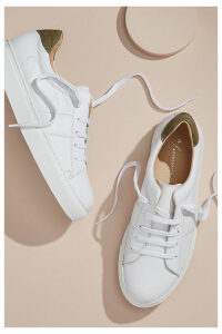 Anthropologie Netiri Leather Trainers - White, Size 41