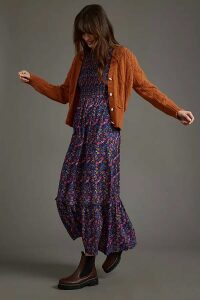 Croc-Effect Leather Ankle Boots - Beige, Size 39