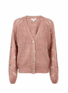Womens **Tall Blush Stitch Lofty Cardigan- Pink, Pink