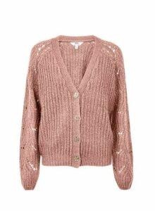 Womens **Tall Blush Stitch Lofty Cardigan- Pink, Pink