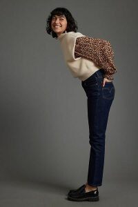 Snake-Effect Leather Loafers - Brown, Size 41