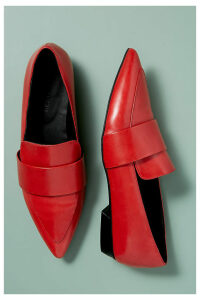 Kerrie Patent-Leather Loafers - Red, Size 41