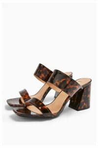 Womens Selina Tortoiseshell Heel Sandals - Black, Black