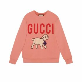 Oversize sweatshirt with lamb patch