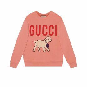 Oversize sweatshirt with lamb patch