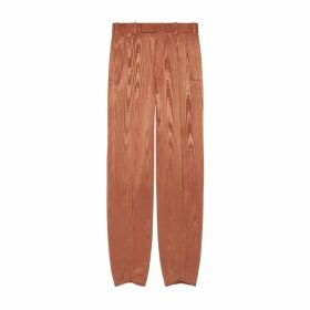 Moiré trousers with ankle tie