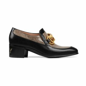 Women's Horsebit chain loafer with lizard
