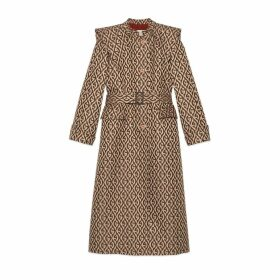 G rhombus print coat with cape