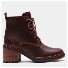 Timberland Sienna High Lace-up Boot For Women In Burgundy Burgundy, Size 8