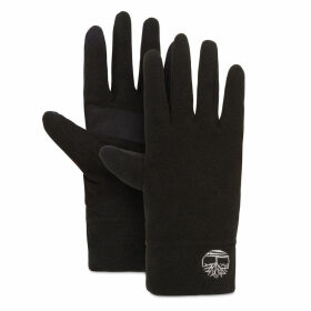 Timberland Fleece Touchscreen Gloves For Women In Black Black, Size LXL