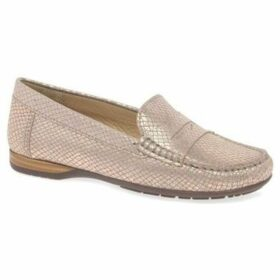 Charles Clinkard  Rosie Womens Moccasins  women's Loafers / Casual Shoes in Gold