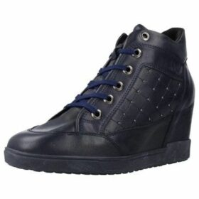 Geox  D CARUM C  women's Shoes (High-top Trainers) in Blue