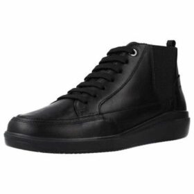 Geox  D TAHINA  women's Shoes (High-top Trainers) in Black
